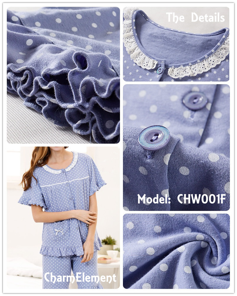 CHW001F Classic Dotted Couple Home Wear cum Sleepwear Set Details