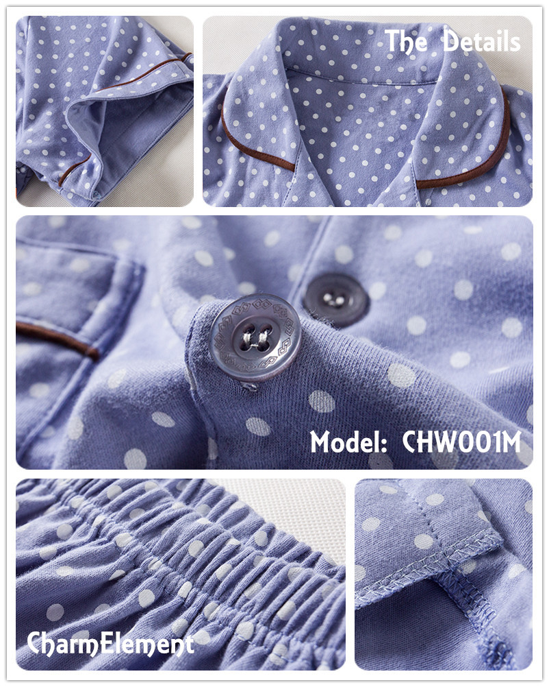 CHW001M Classic Dotted Couple Home Wear cum Sleepwear Set Details
