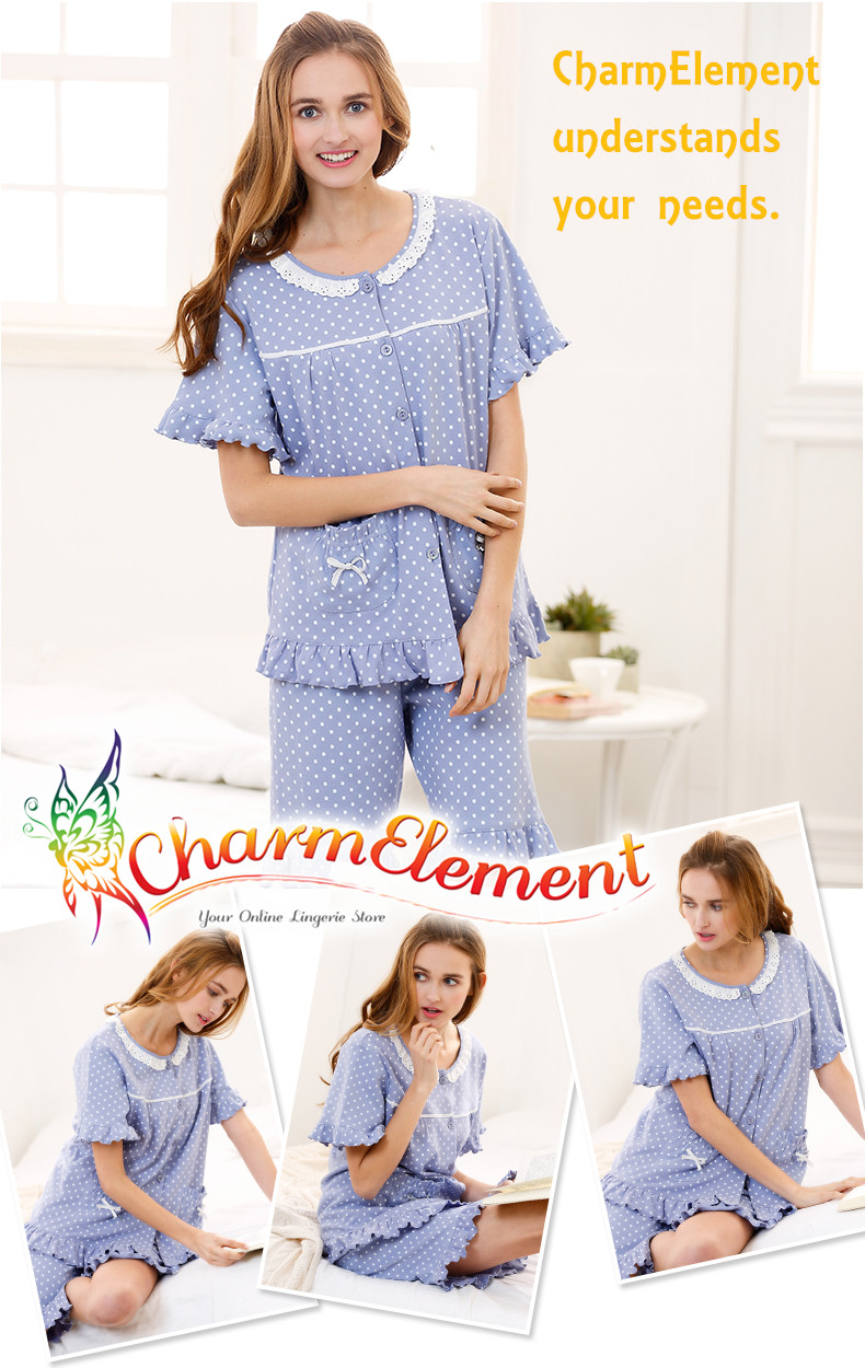 CHW001MF Classic Dotted Couple Home Wear cum Sleepwear Set View 03