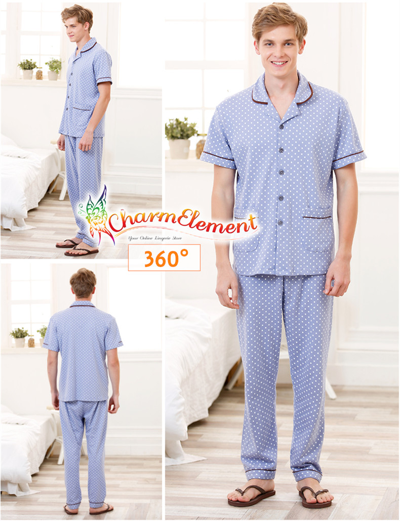 CHW001MF Classic Dotted Couple Home Wear cum Sleepwear Set View 04