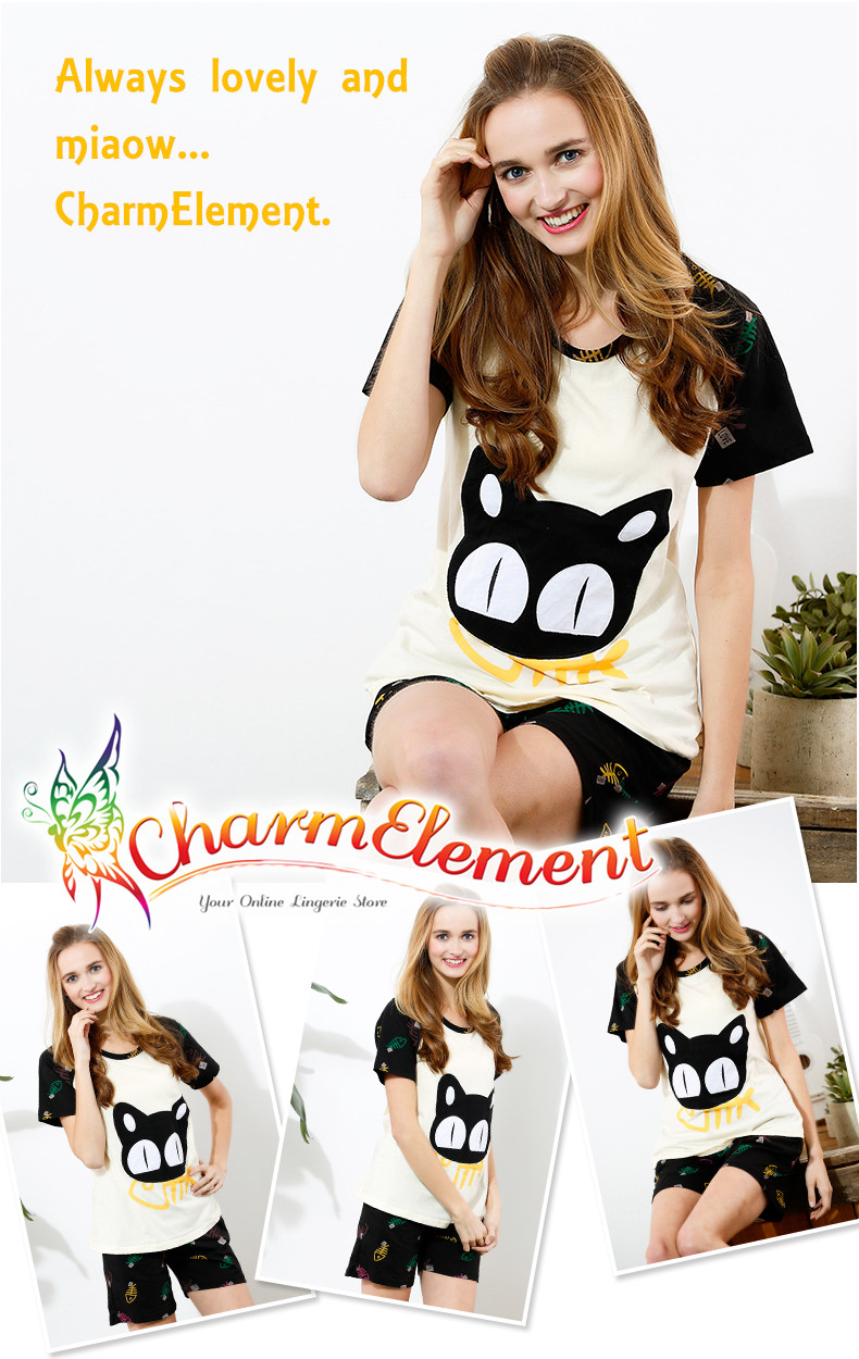 CHW004MF Cat and Fish Couple Home Wear Set View 03