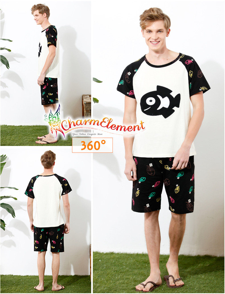 CHW004MF Cat and Fish Couple Home Wear Set View 04