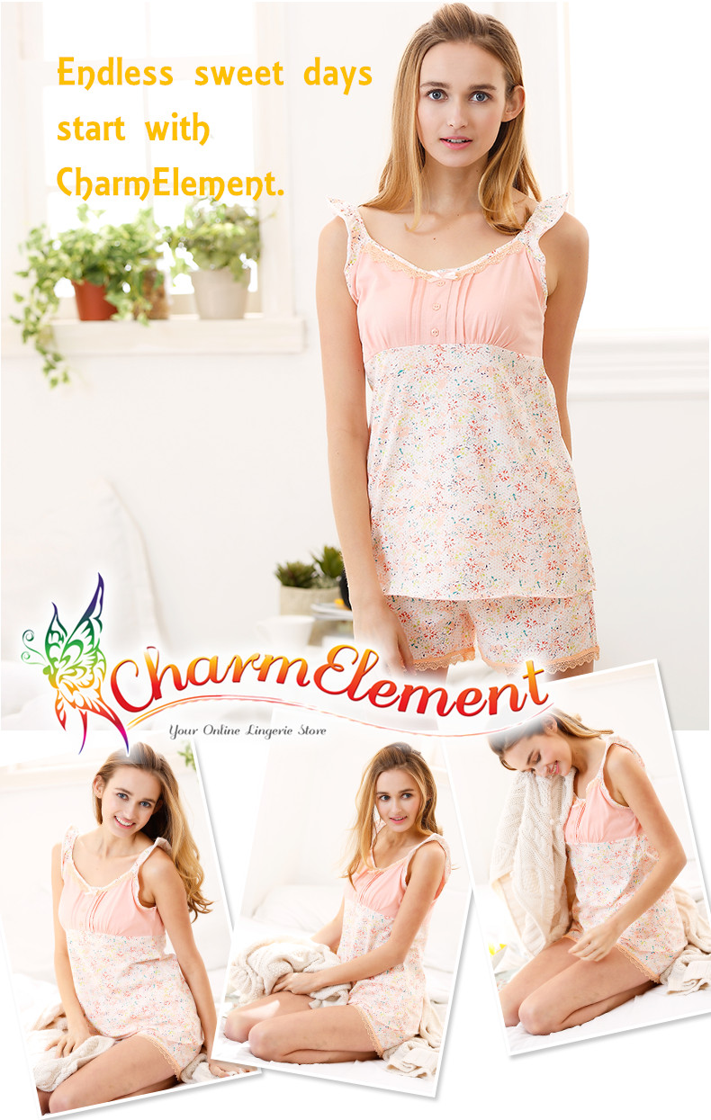 FHW001 Woman Sweet Camisole Home Wear cum Sleepwear Set View 01