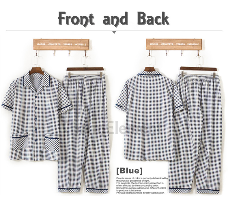 MHW001 Man Classic Pyjamas Home Wear cum Sleepwear Front and Back