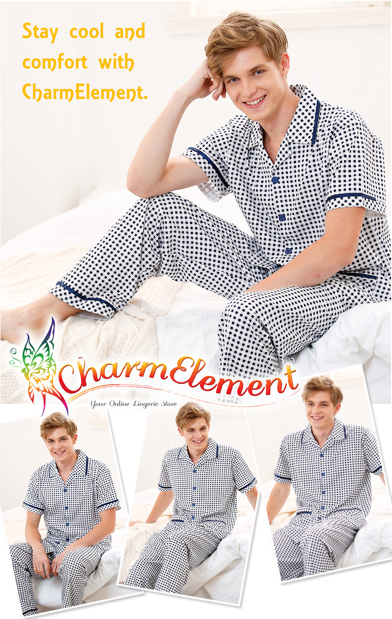 MHW001 Man Classic Pyjamas Home Wear cum Sleepwear View 01