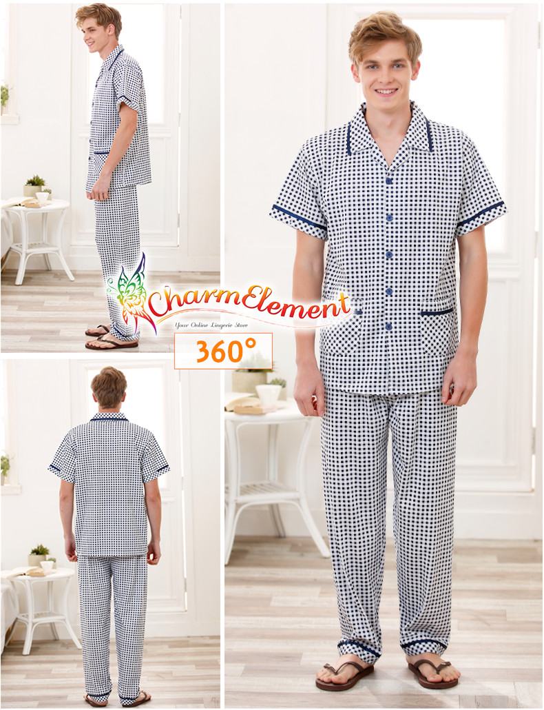 MHW001 Man Classic Pyjamas Home Wear cum Sleepwear View 02