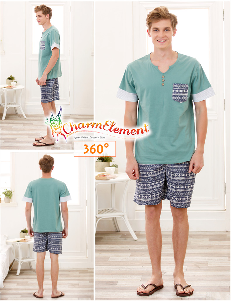 MHW003 Man Sea Cool Home Wear Set View 02