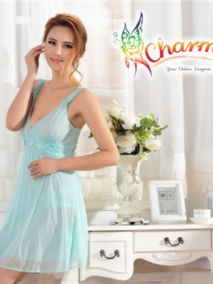 PCN001-Gorgeous Princess Chemise Nightgown Blue 01