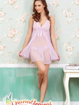 PCN002-Exquisite Princess Chemise Nightgown Purple 01
