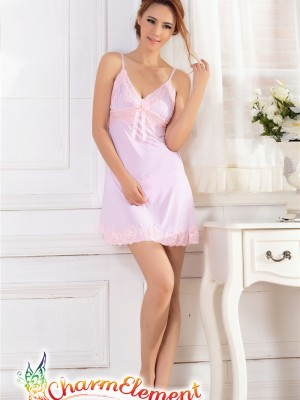 PCN003-Sweet and Sensual Chemise Nightgown Purple 01