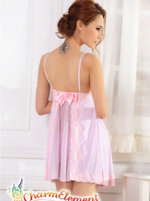 PCN003-Sweet and Sensual Chemise Nightgown Purple 03