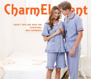 CHW001MF CLASSIC DOTTED COUPLE HOME WEAR CUM SLEEPWEAR SET
