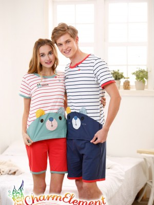 CHW003MF Sweet Bear Couple Home Wear Set 02