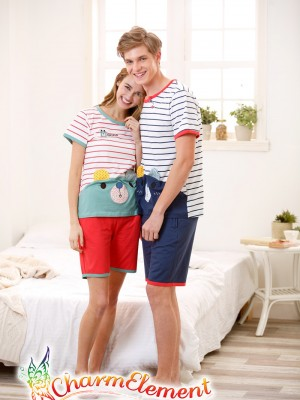 CHW003MF Sweet Bear Couple Home Wear Set 03