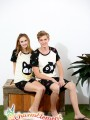 CHW004MF Cat and Fish Couple Home Wear Set 02