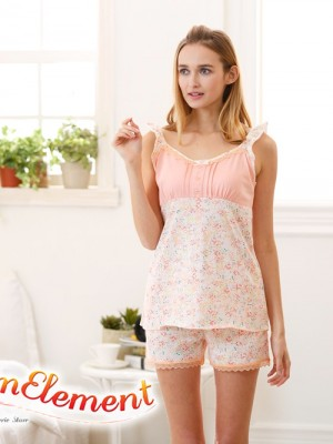 FHW001 Woman Sweet Camisole Home Wear cum Sleepwear Set 02