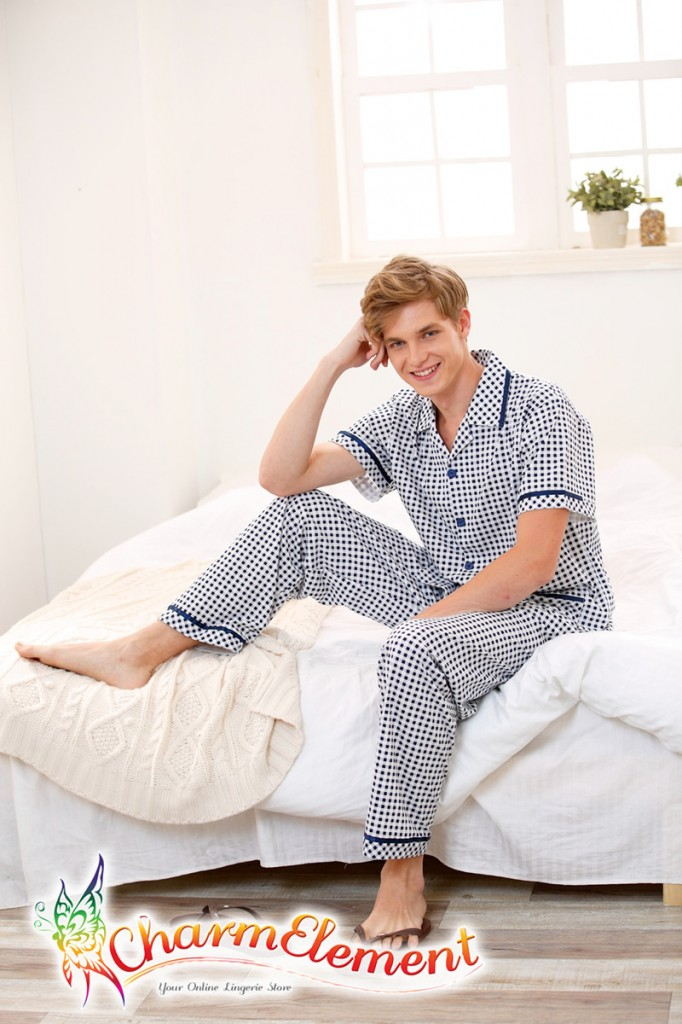 MHW001 Man Classic Pyjamas Home Wear cum Sleepwear