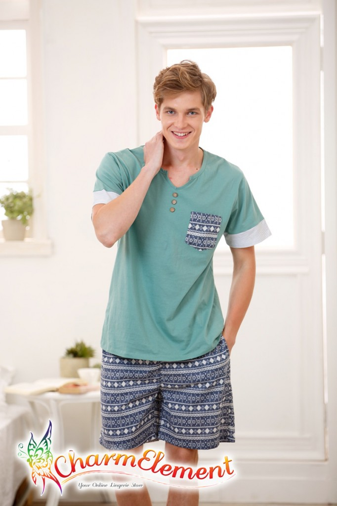 MHW003 Man Sea Cool Home Wear Set