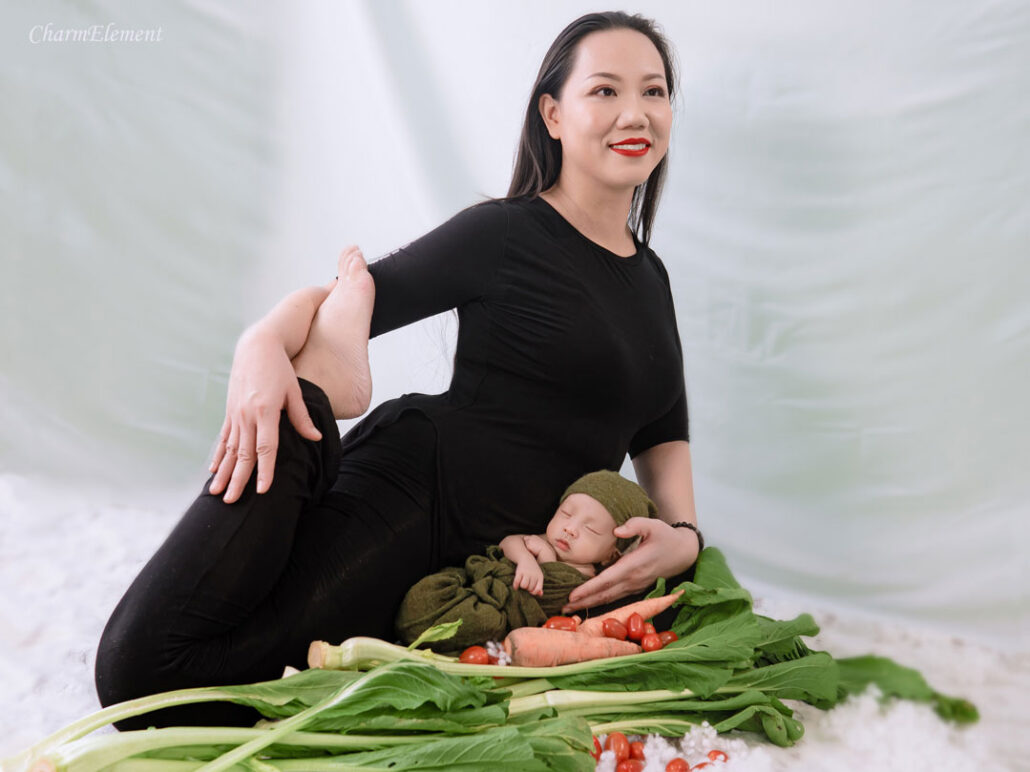 Mommy and Baby Yoga Singapore Peace Diet Vegan Baby